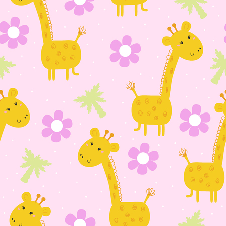cute giraffe pattern print for kids printable templates stock vector 79644053