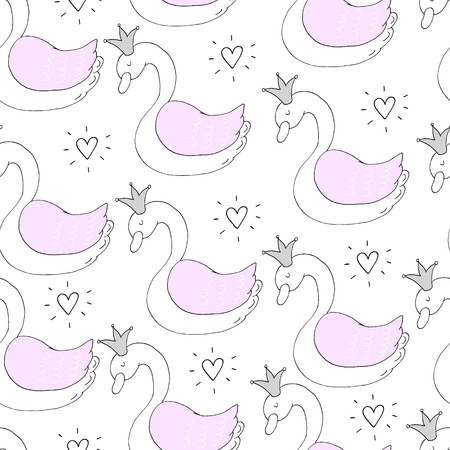 Cute  pattern with cartoon whales. Illustration