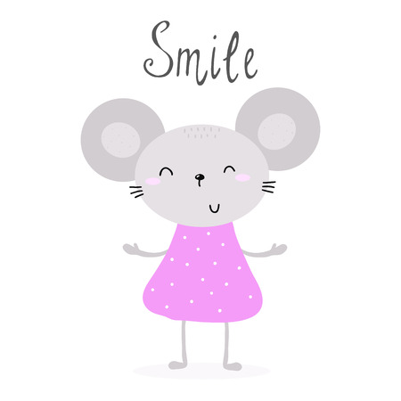 pretty little mouse vector illustration Stock Photo