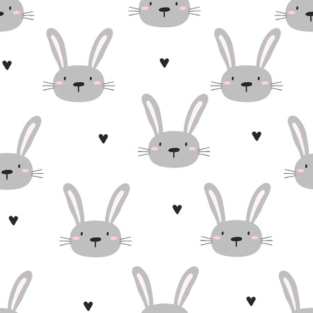 Wzór z cute little bunny. ilustracji wektorowych.