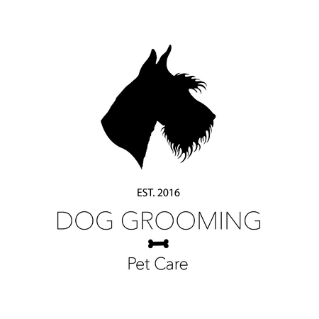 Logo for dog hair salon, dog styling and grooming shop, store for pets. Vector illustration Stock fotó - 99667197