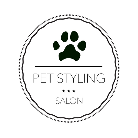 Logo for pet hair salon, styling and grooming shop, pet store for dogs and cats. Vector illustration Banque d'images - 102132760