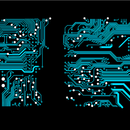 abstract vector background with high tech circuit board Vector Illustration Stock Illustratie