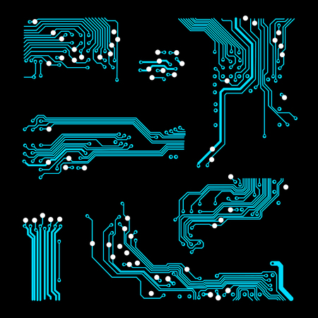 abstract vector background with high tech circuit board Vector Illustration Illustration