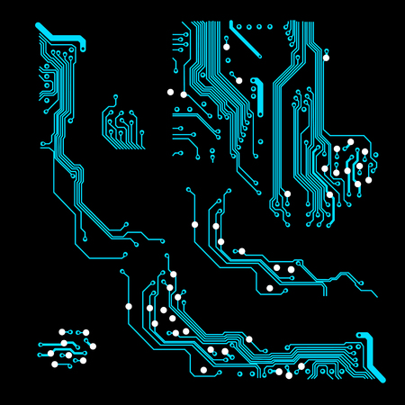 fond abstrait vectoriel avec carte de circuit imprimé haute technologie Illustration vectorielle