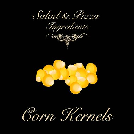 Salad and pizza ingredients - corn kernels. Vector Illustration