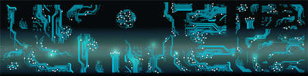 Abstract vector background with high tech circuit board. Vector Illustration