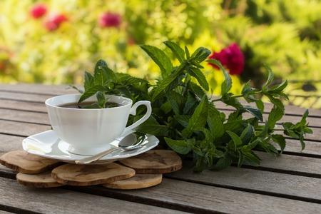 teatime: Teatime in the summer garden.