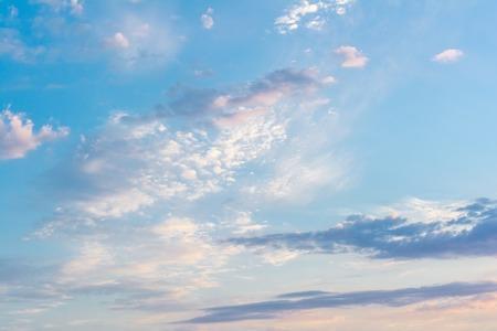 evening sky: Sky. Blue sky. Evening sky.