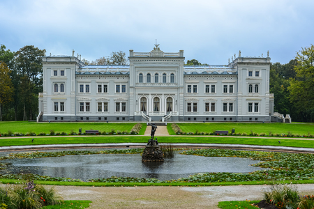 Manor house, palace with park of Duke Oginskis in Plunge, Lithuania. PlungÄ— manor homestead in neo-renaissance style.