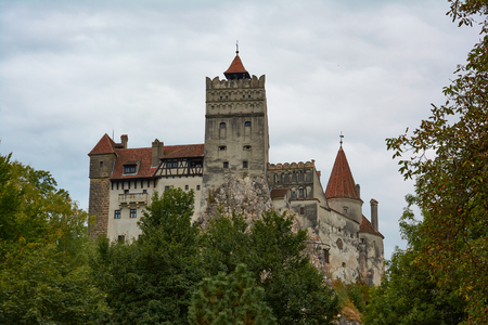 Bran Castle, former royal residence and castle of the legendary Count Dracula. Medieval fortification.
