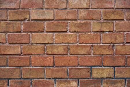 Red brick wall, ?ld brickwork. Texture of old ceramic brick. Texture, background.