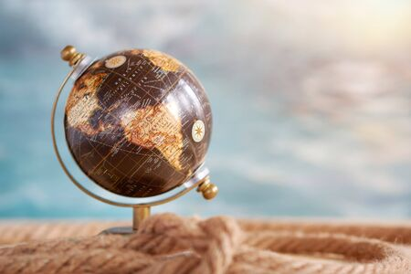 Planet earth globe, map of the earth's surface, North America and South America. Continents and oceans. Stok Fotoğraf