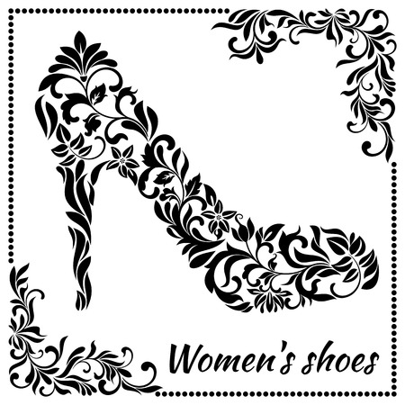heelpiece: Womens shoe from a floral ornament
