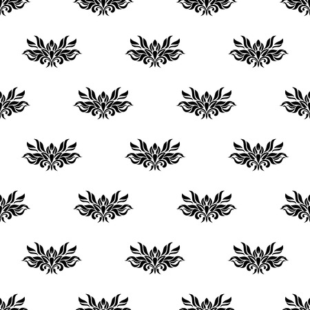 palatial: Vintage seamless pattern - black and white