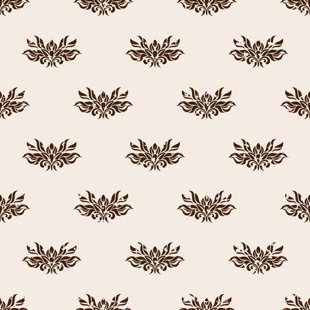 beige stof: Naadloze patroon - Oude beige behang