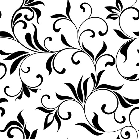 nature pattern: Seamless pattern: flowers on a white background