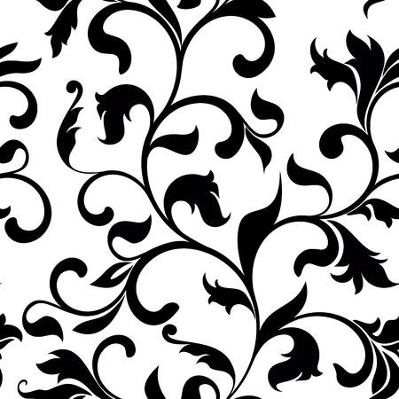 Classic naadloze patroon met tracery op een witte achtergrond. Vintage-stijl Stock Illustratie