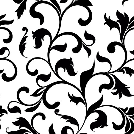 Classic seamless pattern with tracery on a white background. Vintage style