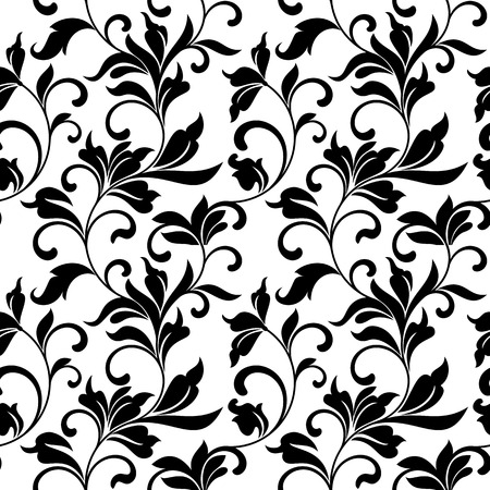 tracery: Elegant seamless pattern with classic tracery on a white background. Vintage style.