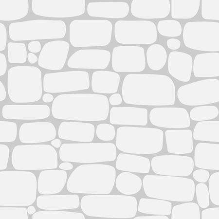 Naadloos patroon met witte stenen. Muur van bakstenen