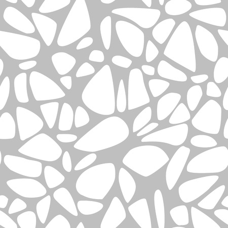 cobble: Seamless pattern with stones on a gray background Illustration