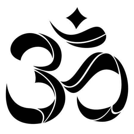 symbole Yoga Om ou Pranava.