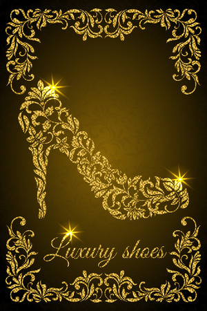 Banner: Luxury design layout with female shoe
