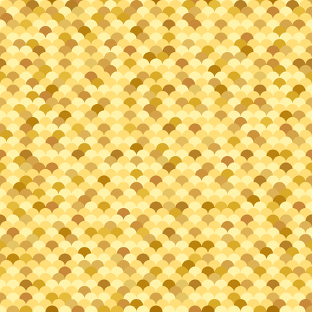 fish scale: Golden seamless pattern with fish scale texture