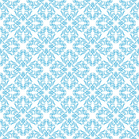Seamless pattern. Ornate floral tracery on a white background. Ideal for textile print and wallpapers.