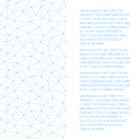 Flyer Template with Blue abstract grid background and place for text. Suitable for scientific, technological, biological, social theme