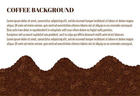 Three waves of coffee. Coffee Beans Background. There is a place for text Иллюстрация