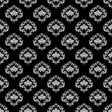 Seamless pattern. Luxurious wallpaper in vintage style. Background Damask. Texture for print, wallpaper, home decor, textile, package design