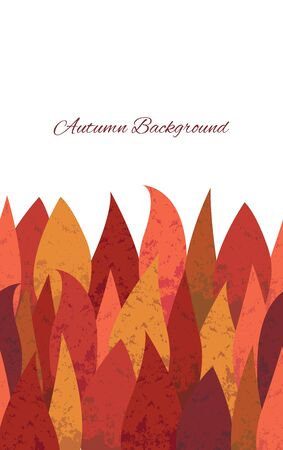 Autumn background. Autumn leaves with texture. Suitable for design cover, banner, poster, booklet.