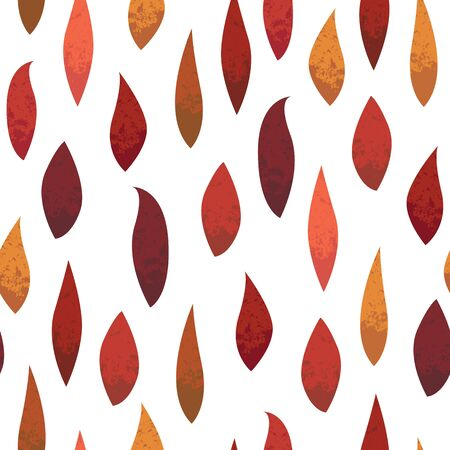 Seamless pattern. Autumn leaves with texture.   Texture for print, wallpaper, home decor, textile, or website background.