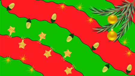Christmas and New Year background in resolution 16: 9 with red and green painted splashes
