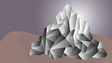 Abstract low polygonal mountain landscape with gradient in resolution 16: 9