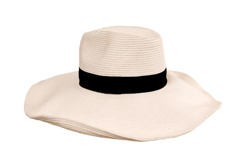 sunstroke: Big beide womans hat from the sun with black hat-band