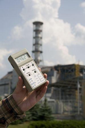 emanation: High radiation level near sarcophagus of Chernobyl nuclear station, Ukraine
