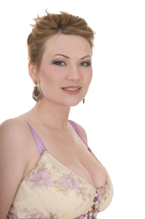 aretes: Retrato de mujer madura belleza atractivo con maquillaje de Niza