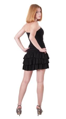 cocktaildress: Mooie jonge vrouw in cocktail jurk