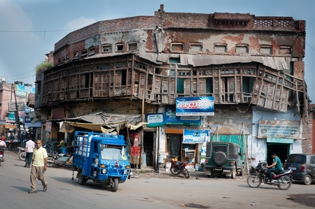indian widespread city picture with old building