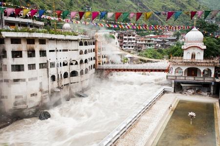 hindus: Temple with thermal spring, Manikaran, India Stock Photo