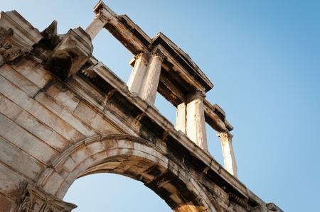 hadrian: Grecia, Atenas. Arco de Adriano. Foto de archivo