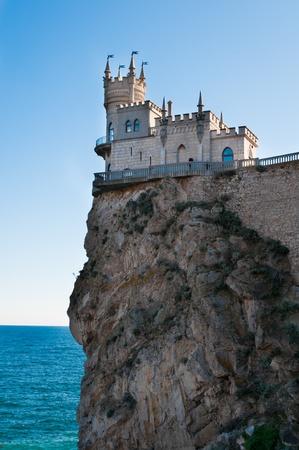 Fantastic castle on a rock: Swallow Stock fotó