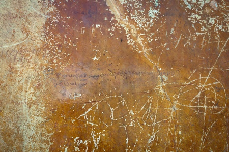 Ancient love poetry on the wall, Sri Lanka, Sigiriya Stock Photo - 12173389