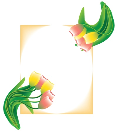 Spring postcard with tulips Stock Photo - 12521510