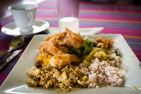 Traditional Sri Lankian food and drinks