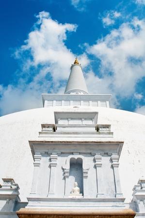 anuradhapura: Buddha statue in white stupa Ruvanveli, Anuradhapura, Sri lanka