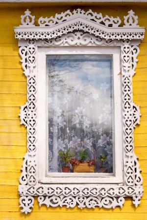 Traditional Russian window Stock Photo - 13717447
